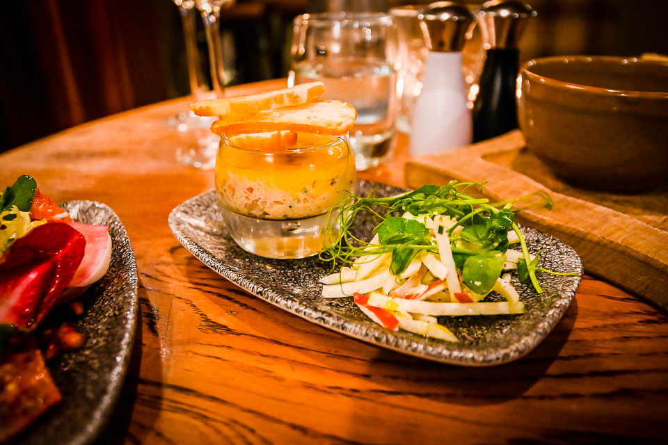 The Plough at Scalby Review - potted crab starter