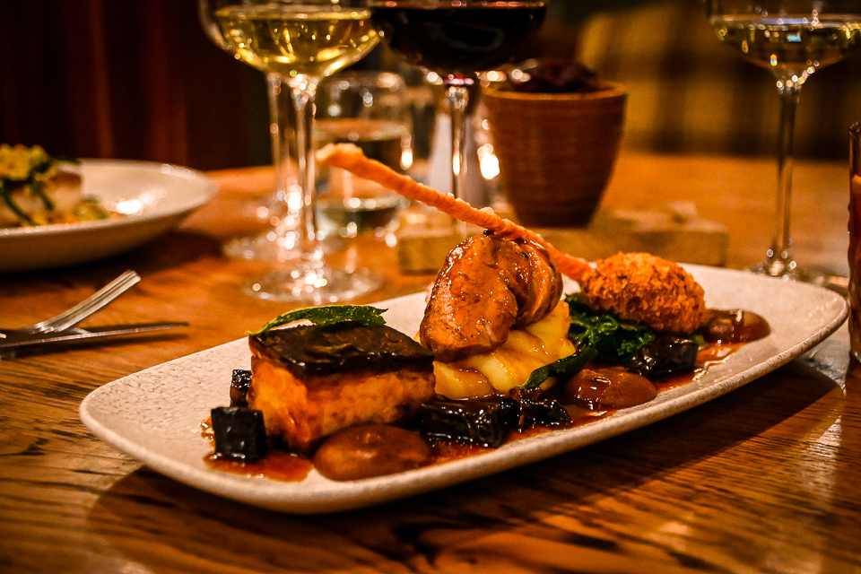 The Plough at Scalby Review - pork belly restaurant dish