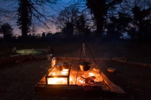 Outdoor Dining Events Yorkshire - Fire & Dine - Yorkshire Gourmet - Swillington Organic Farm Leeds