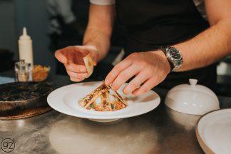 Restaurant 92 Harrogate Offer plating food