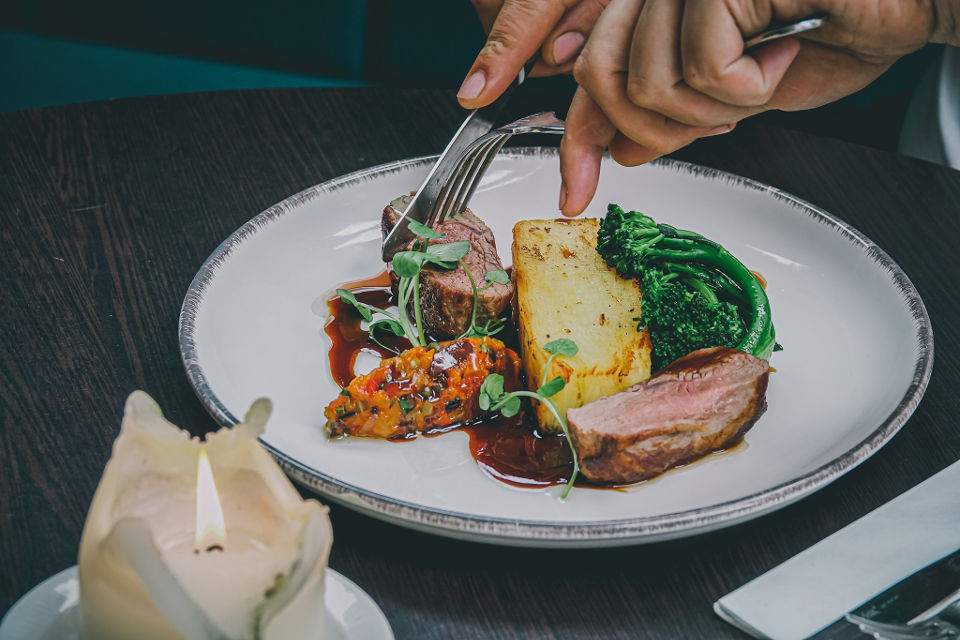 West Park Harrogate Restaurant Beef Main Course
