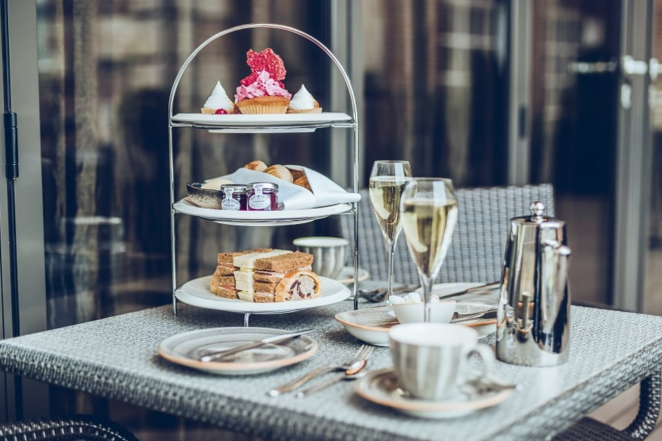 The Grand York Afternoon Tea on the terrace shot