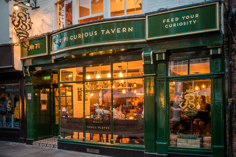 Mr P's Curious Tavern York - Christmas in Yorkshire 2017 best restaurants in Yorkshire