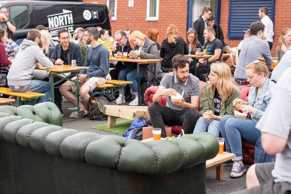 Eat North Leeds Street Food Event crowd