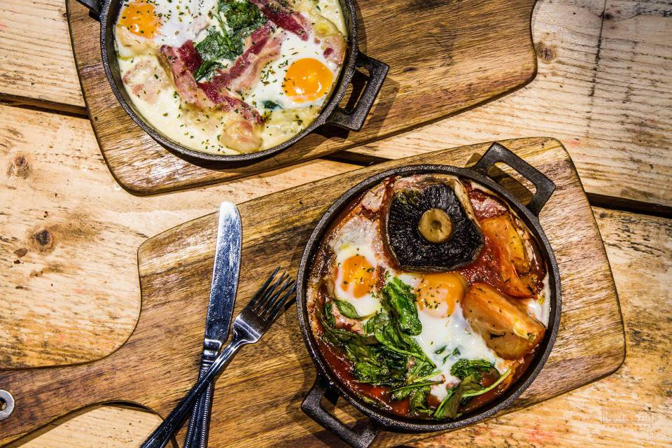 Craft and Dough Sheffield Bottomless Brunch dishes