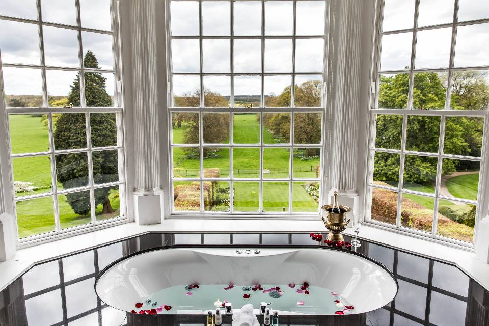 Goldsborough Hall Bath Tub Views
