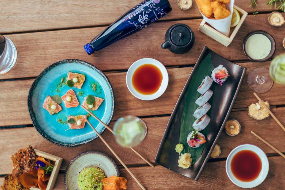 Issho Leeds Offer sushi selection
