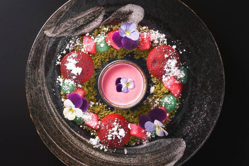 Tattu Leeds Review Pear Crumble Dessert