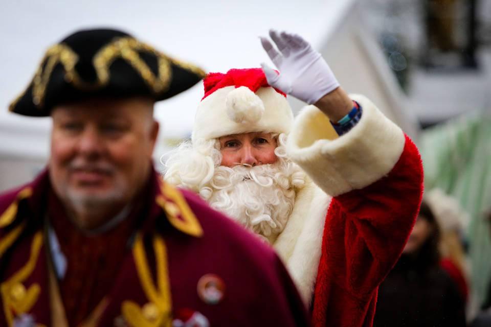 Christmas Markets in Yorkshire - Grassington Christmas Market Dickensian Festival Santa