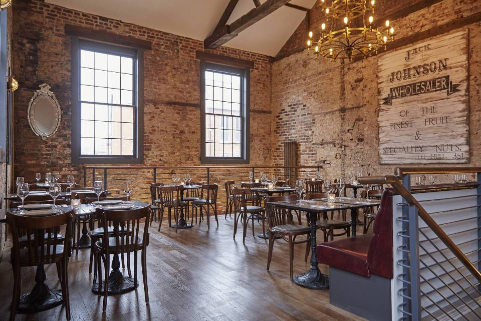 J Johnsons Hull Wine Bar and Bistro Restaurant Interior