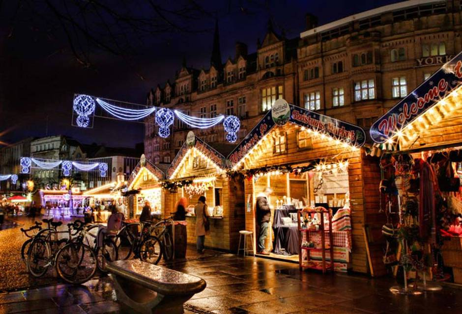 Christmas Markets in Yorkshire - Sheffield Christmas Market Stalls