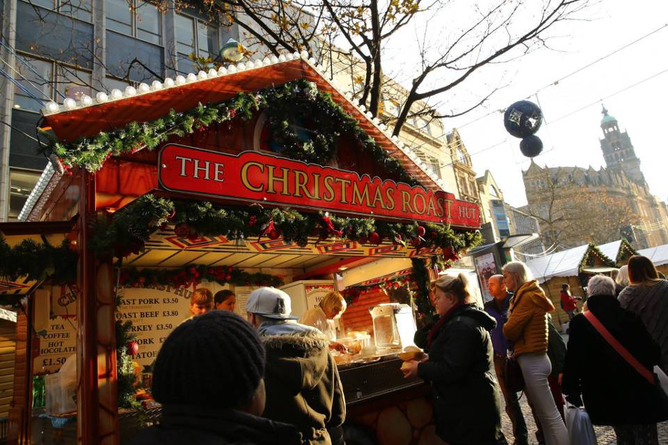 Sheffield Christmas Market Food Stall