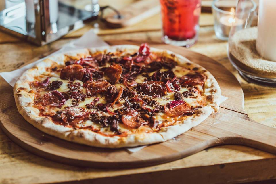 Craft and Dough Sheffield Offers Meat Pizza