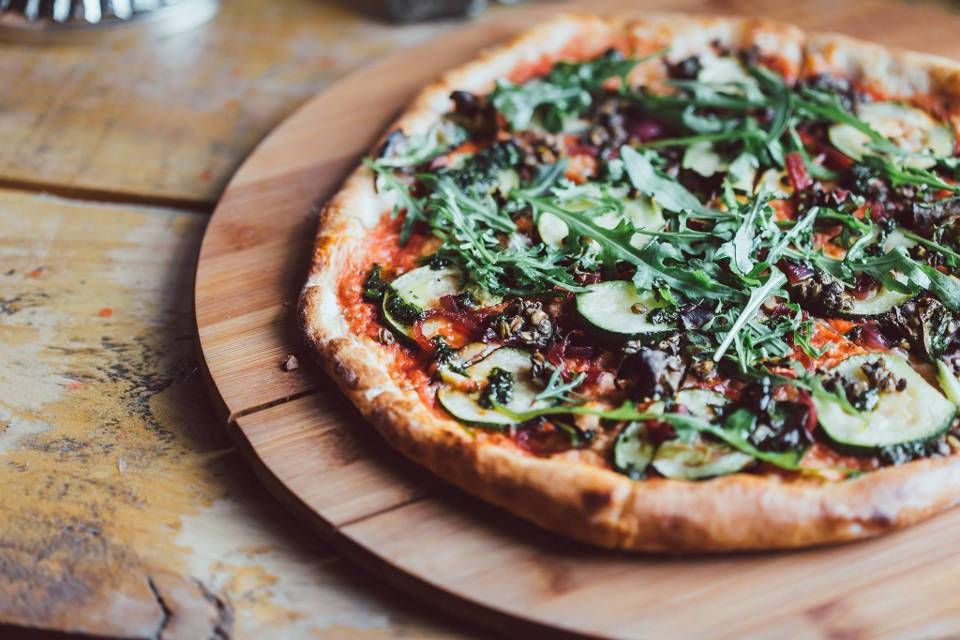 Craft and Dough Sheffield Offers Veggi Pizza
