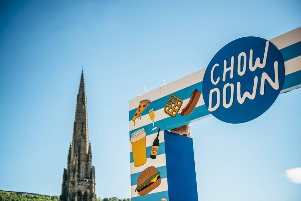 Chow Down Halifax Piece Hall Sign