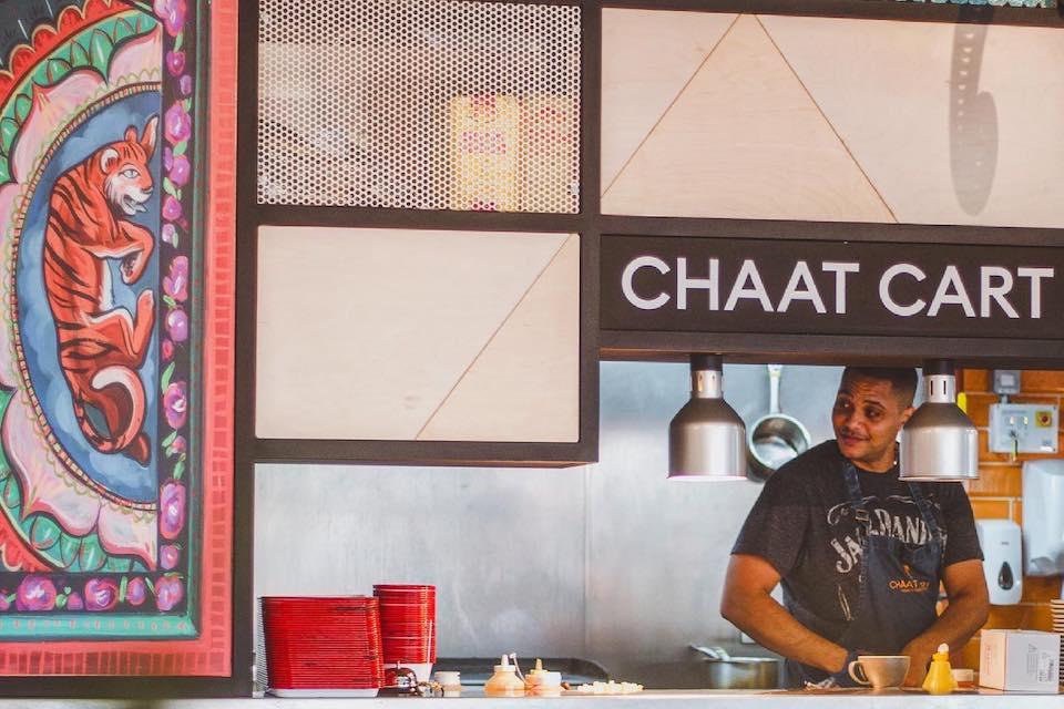 Chaat Cart kitchen at Kommune Sheffield food hall landscape