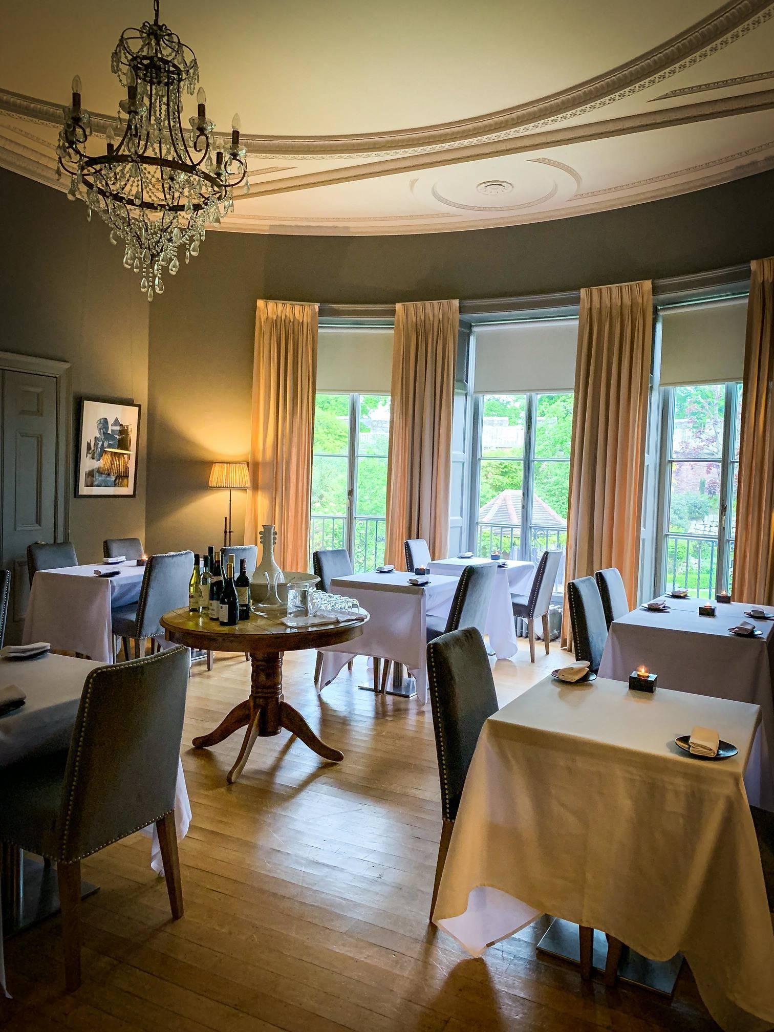 Restaurant interior. Bow Room Restaurant at Grays Court York
