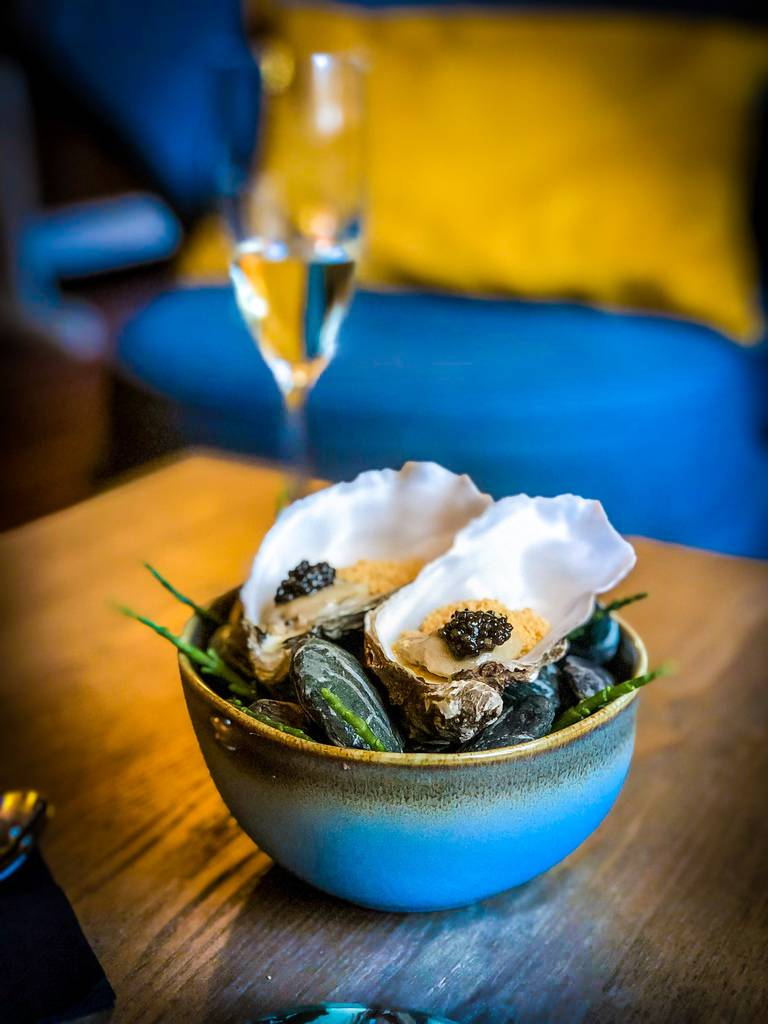 Oysters. Bow Room Restaurant at Grays Court York