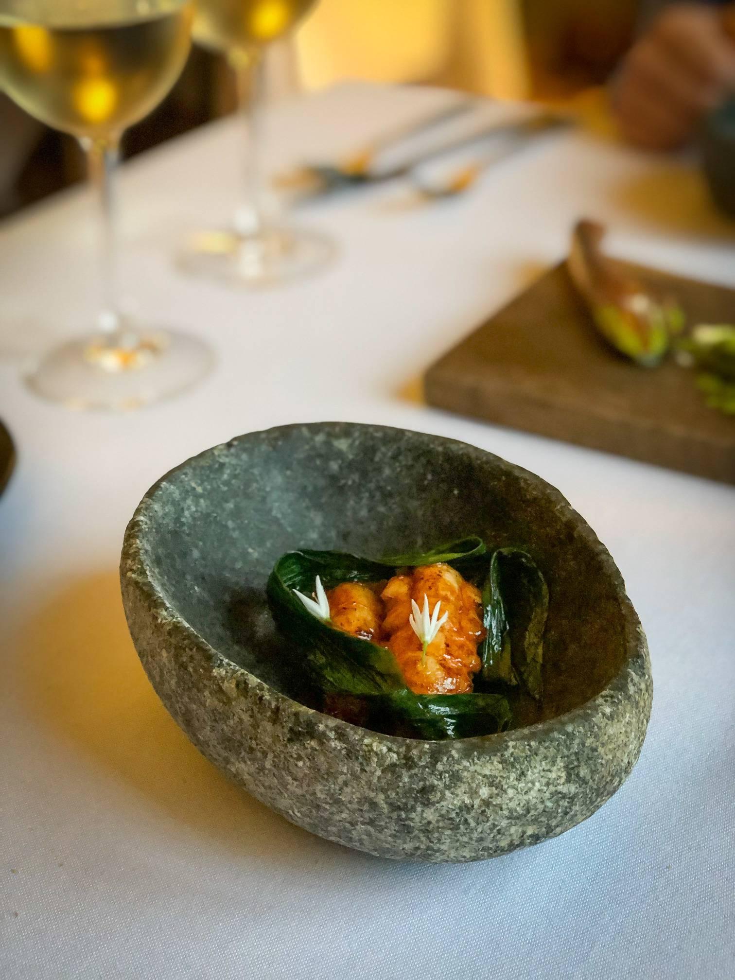 Langoustine, Bow Room Restaurant at Grays Court York