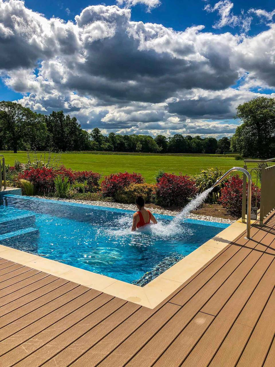 Rockliffe Hall Spa Garden Pool Shot