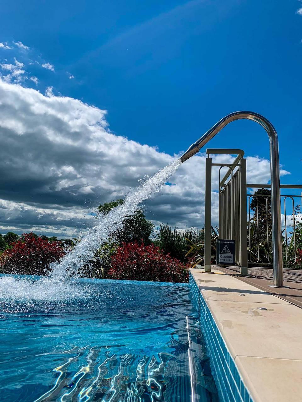 Rockliffe Spa Garden in Pool Shot