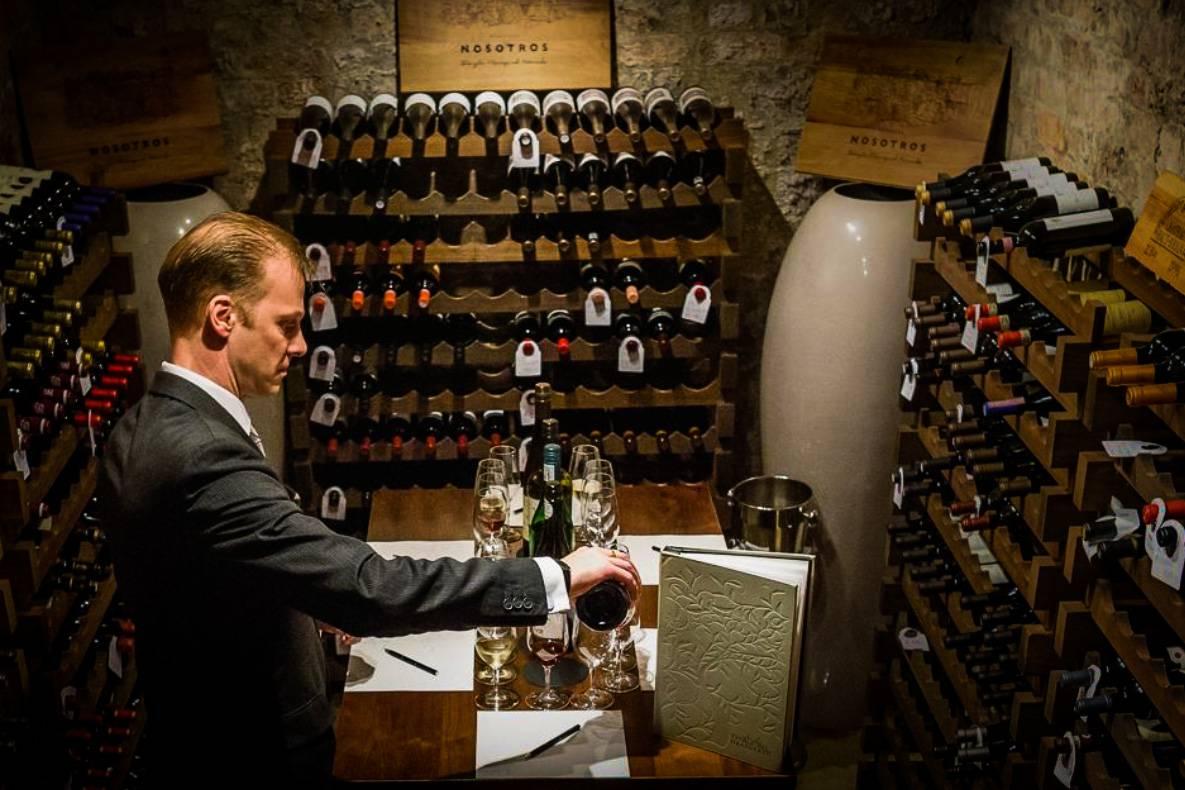 Rockliffe Hall Wine Cellar