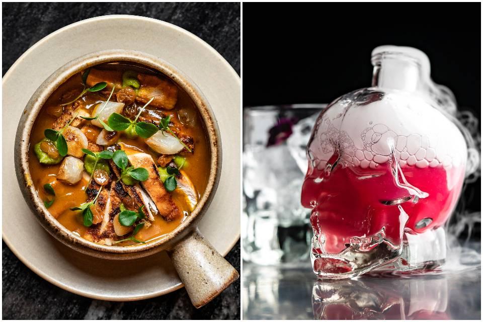 Food and cocktails Tattu Leeds