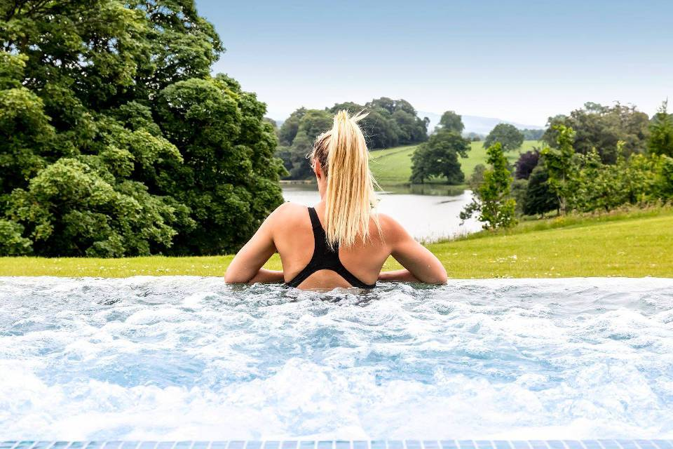 Coniston Spa Lady in outdoor Pool