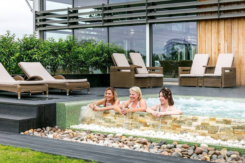 Coniston Spa ladies in outdoor pool