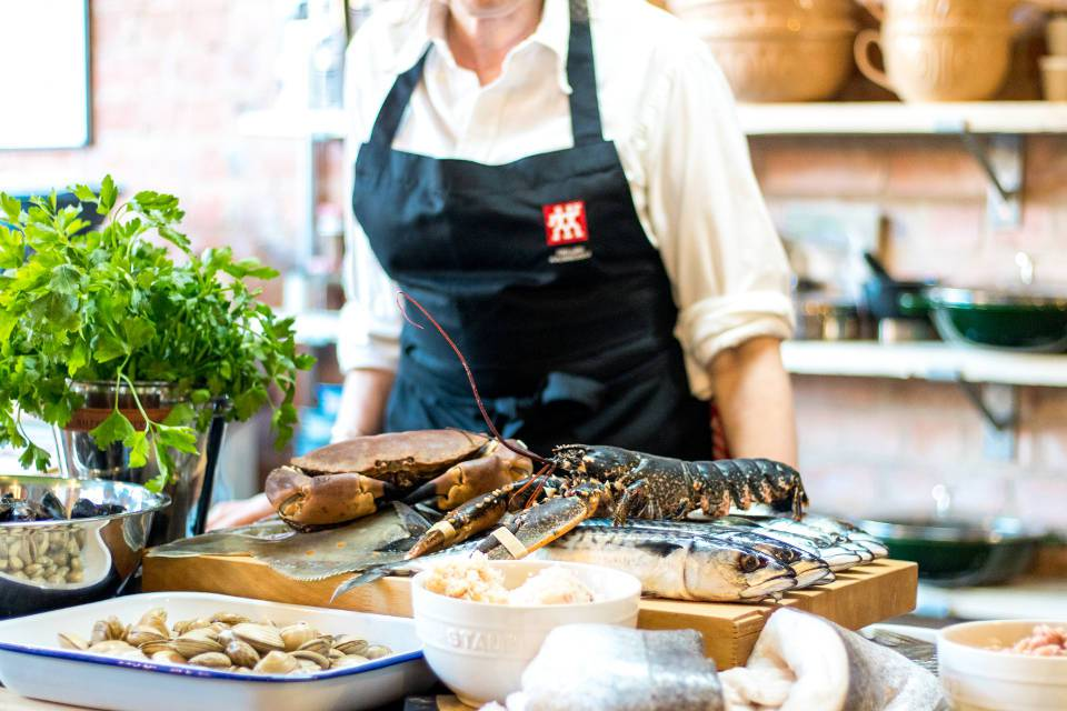 Seafood Class Malton Cookery School Yorkshire seafood selection