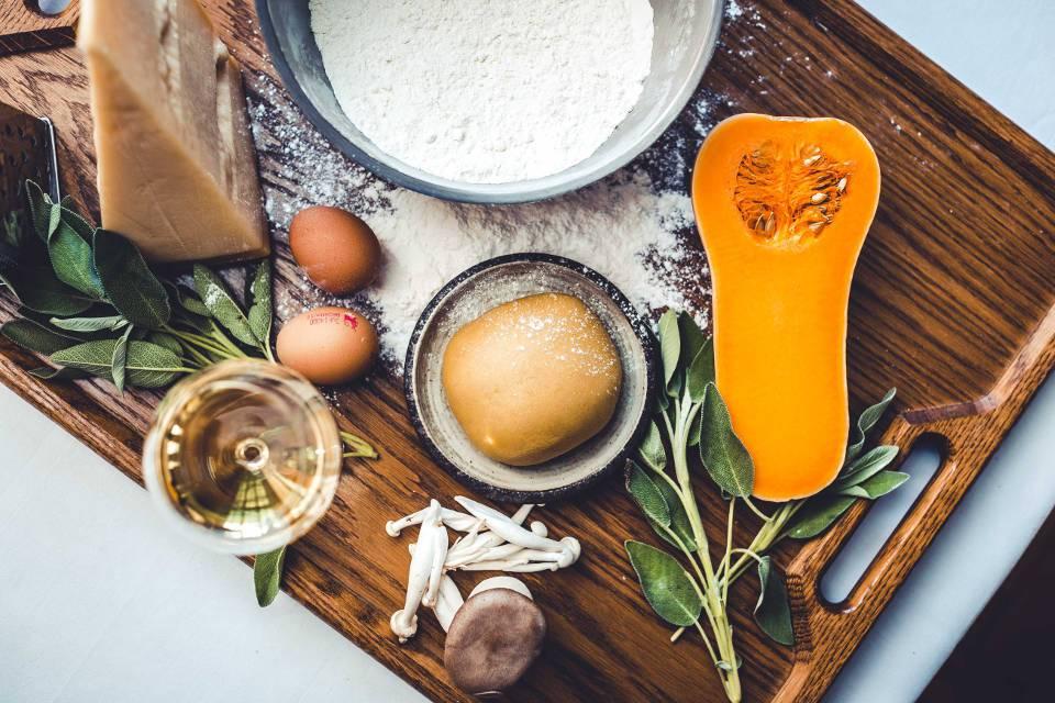 Top 10 Yorkshire Cookery Schools ingredients board