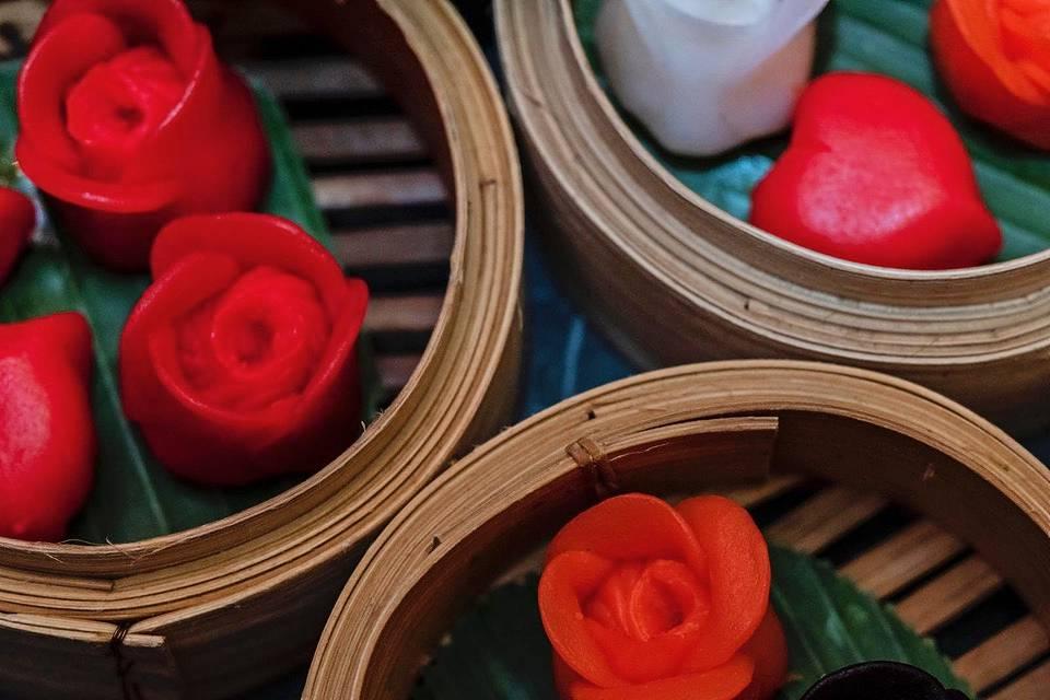 Valentines Day Dim Sum roses Tattu