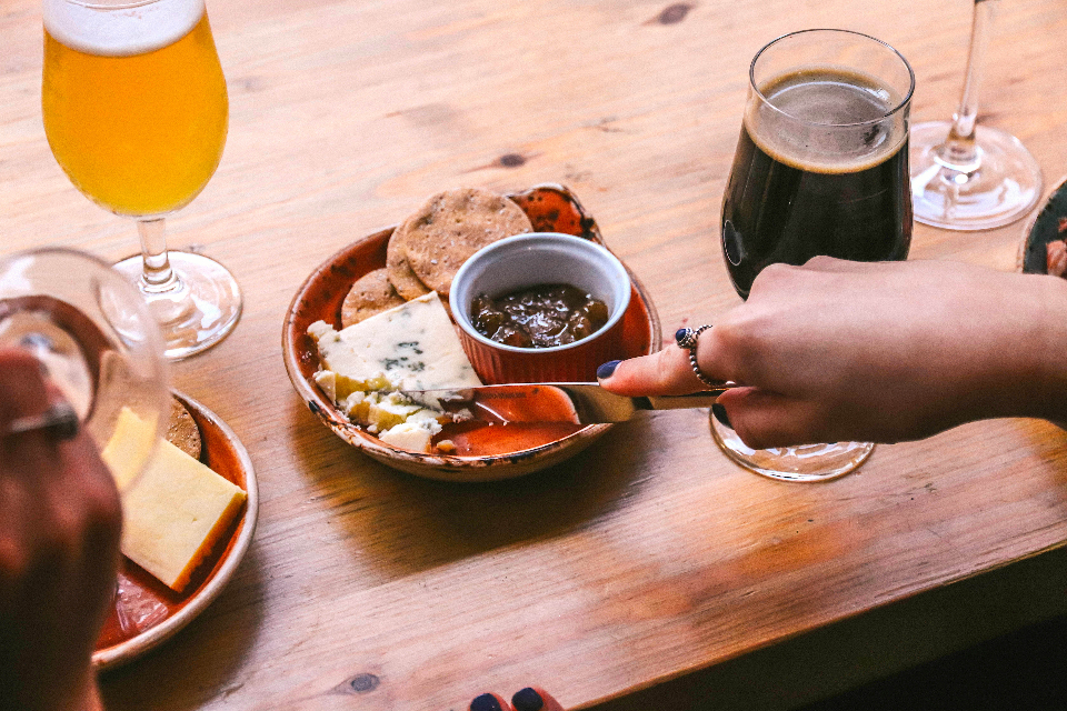 Friends of Ham Beer and Wine Pairing experience Leeds cheese