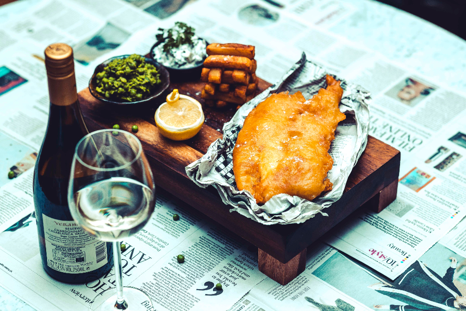 The Grand York Cookery School Fish and Chips