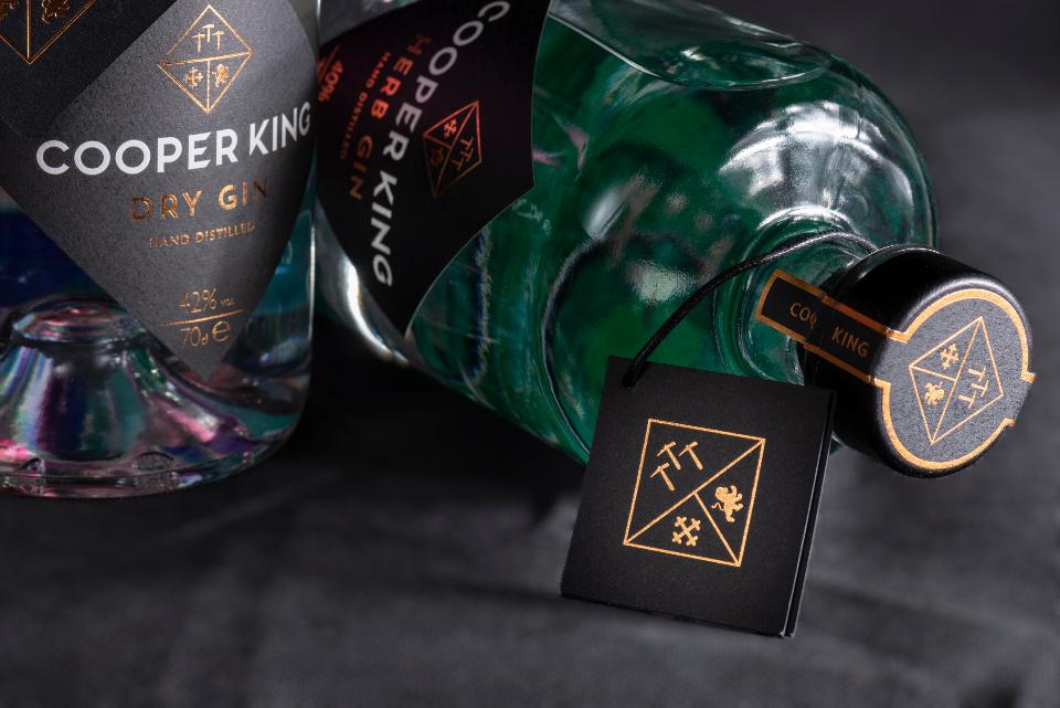 Cooper King Distillery Dry & Herb Gin Bottles