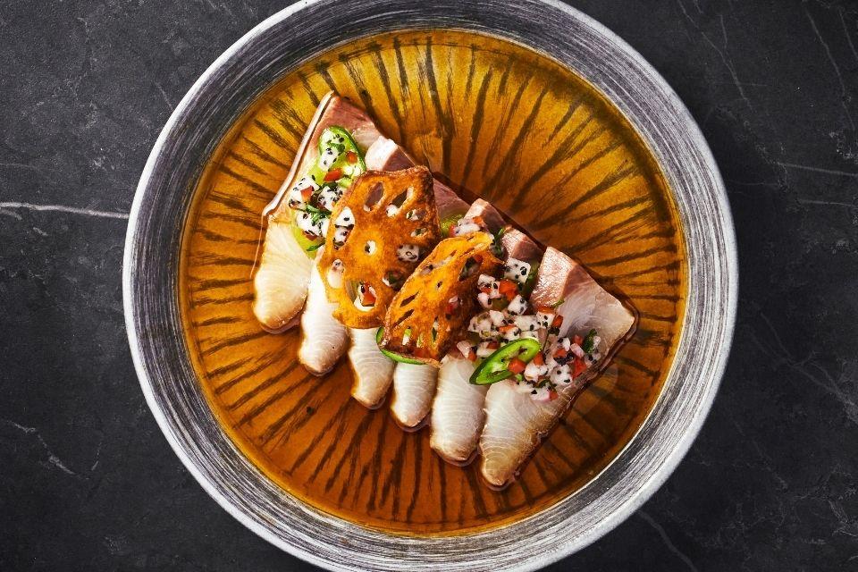 Tattu Leeds winter dishes sashimi