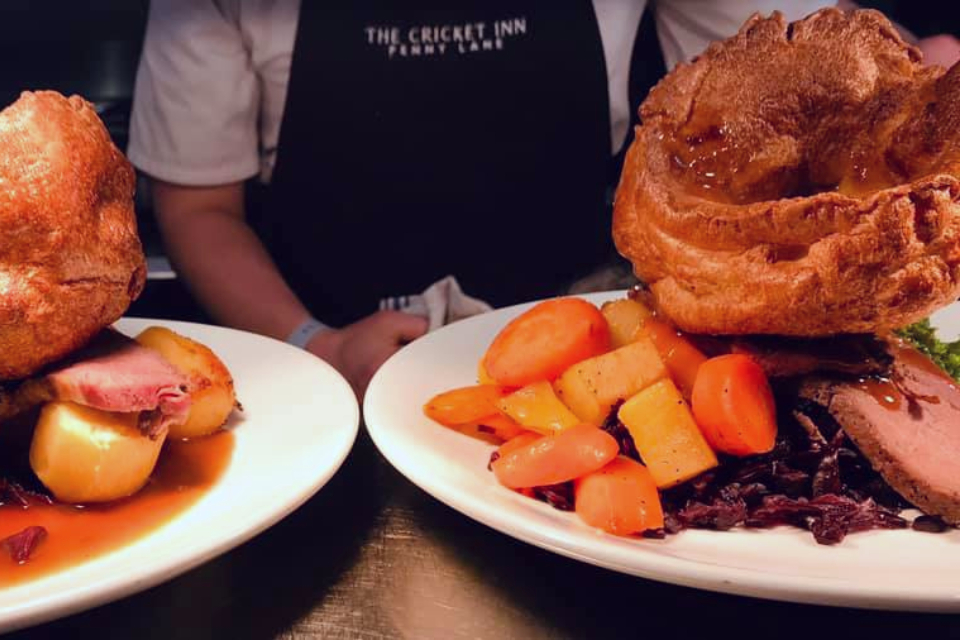 The Cricket Inn Sunday Lunch - Best Sunday lunch in Sheffield