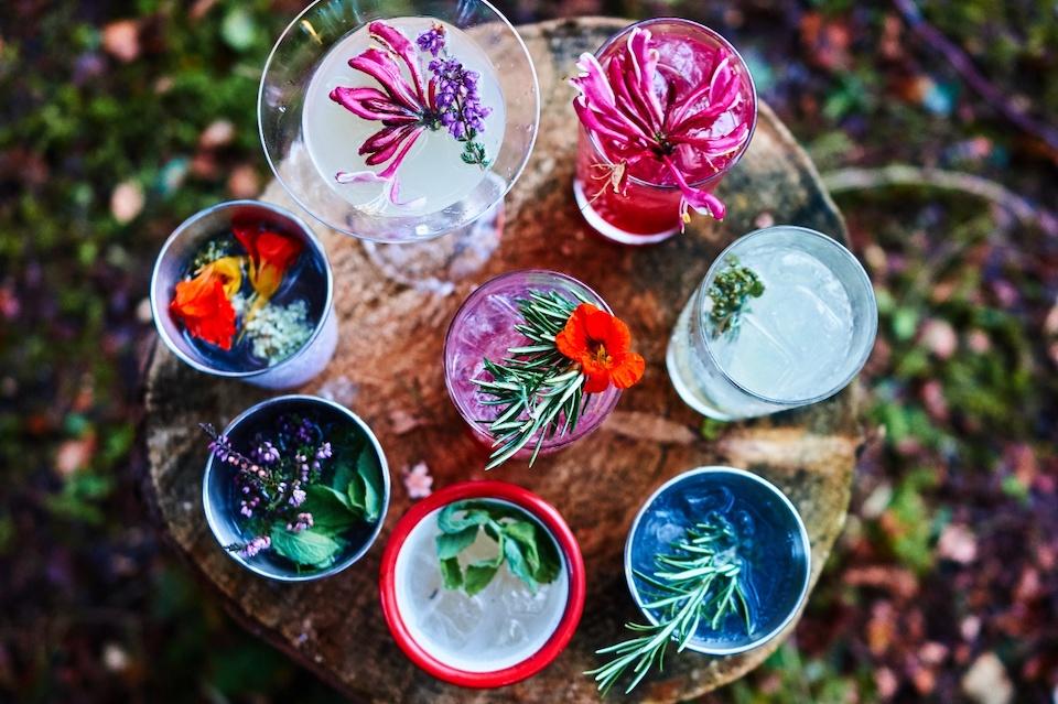 Harvey Nichols Leeds botanist cocktails