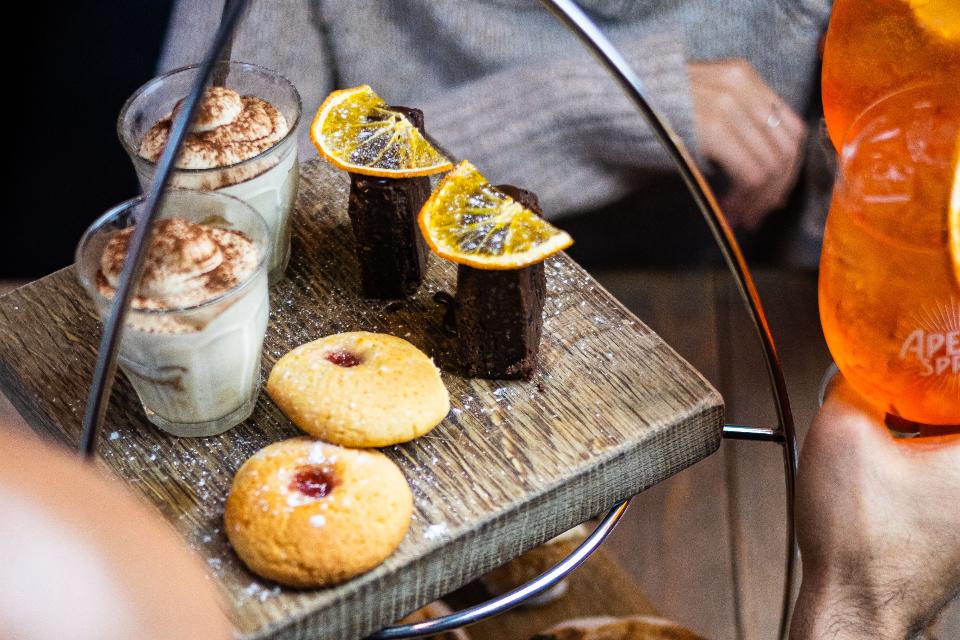 Livin Italy Afternoon Tea Offer desserts overhead shot