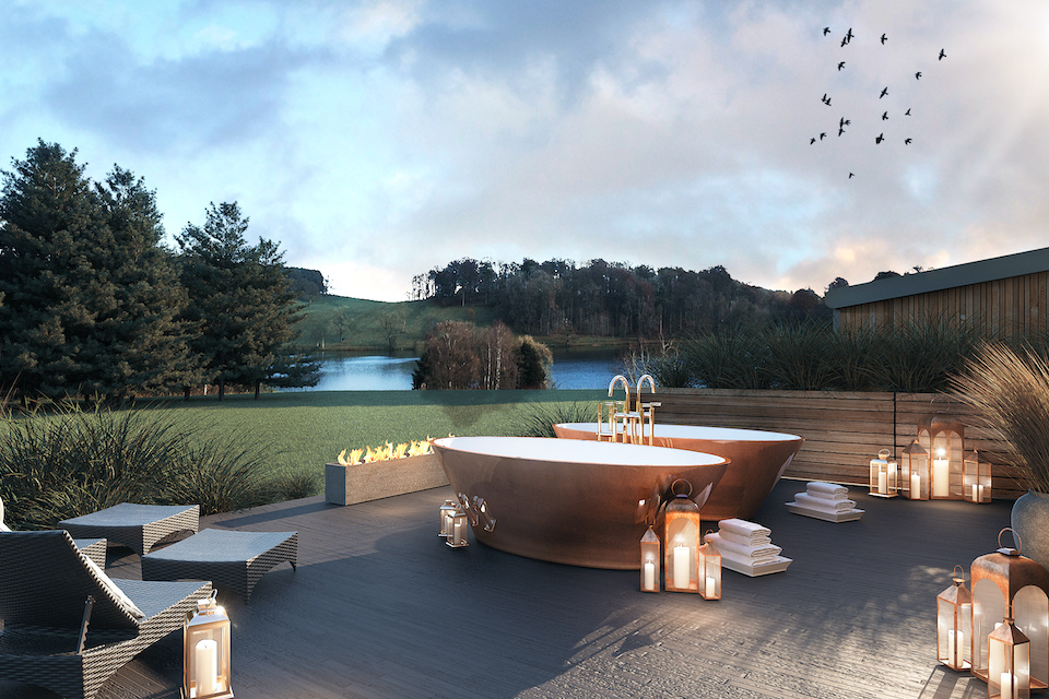 Outdoor bathing Coniston Hotel and Spa