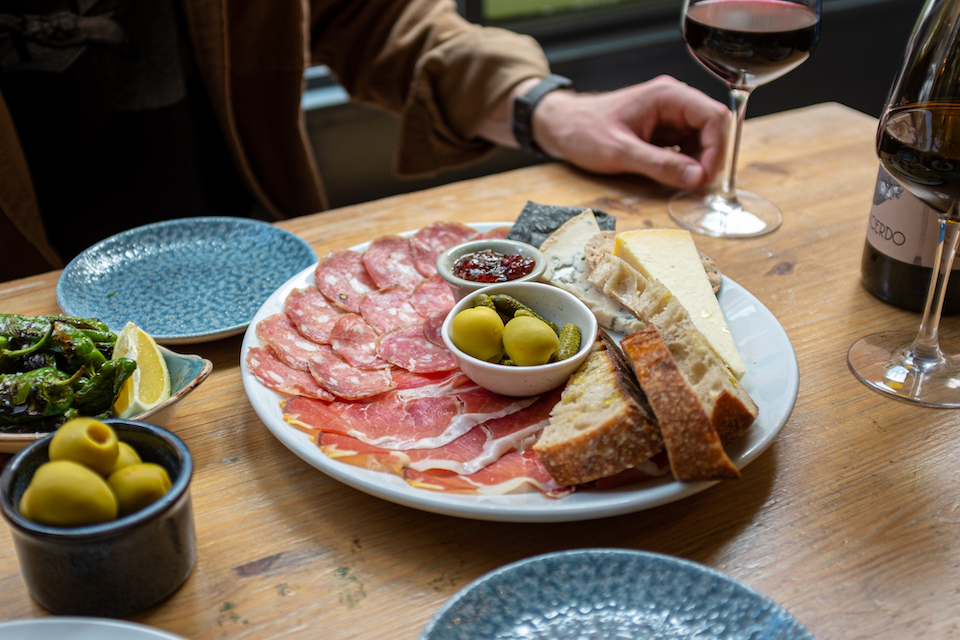 Friends of Ham Leeds offer - meat and cheese platter