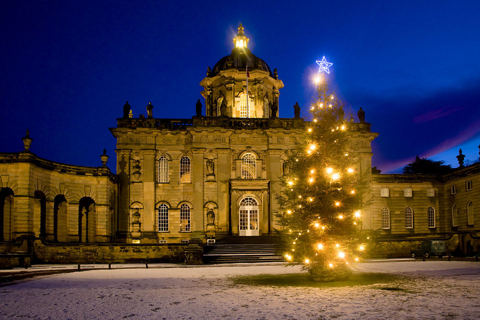 Castle Howard large outdoor Christmas tree