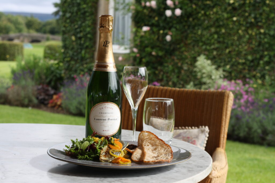 The Devonshire Arms Champagne & Seafood Terrace mackerel