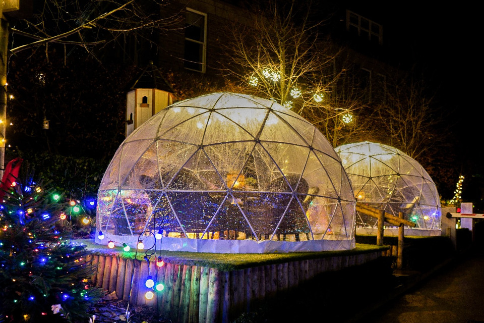 Fat Badger Harrogate New Year's Eve Igloos