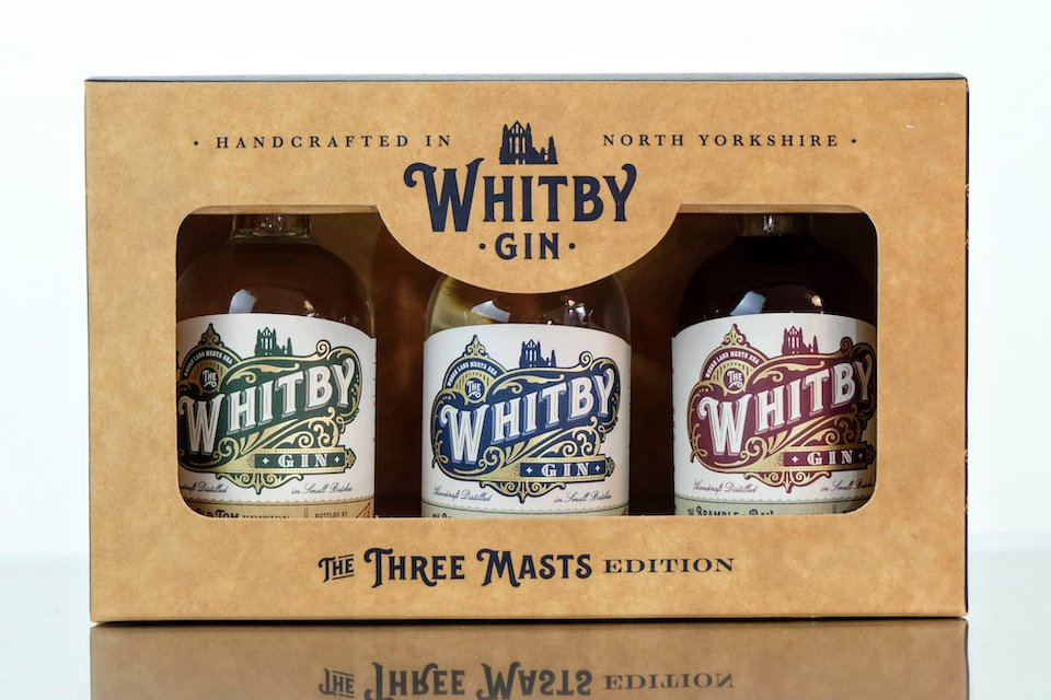 Whiby Gin 3 masts gift set landscape