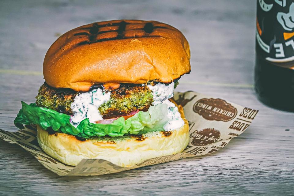 Chickpea burger recipe provenance inns