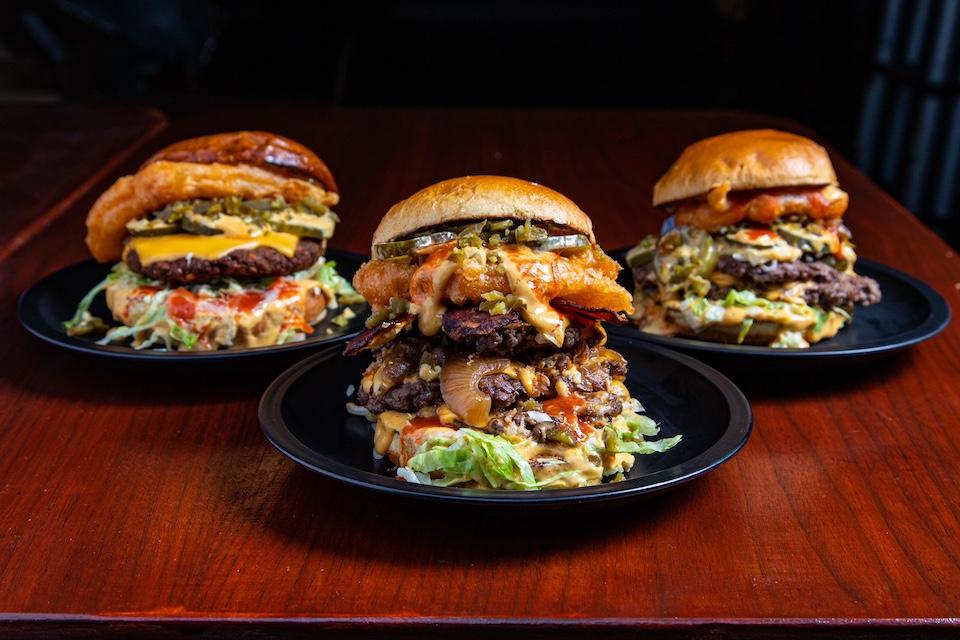 Big Buns Leeds trio of burgers