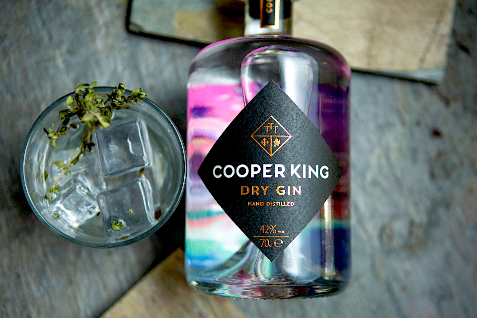 Cooper King Gin flat lay image