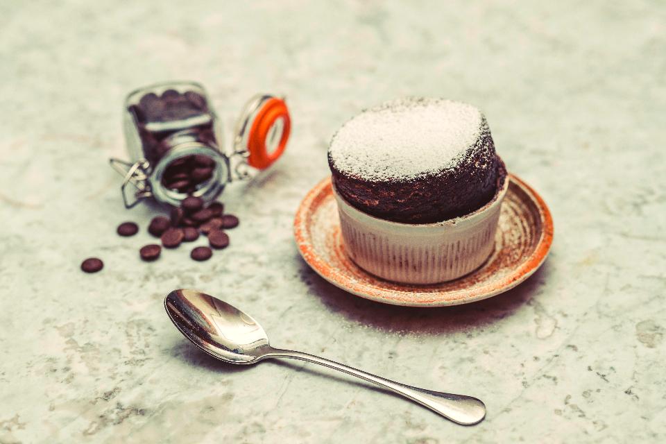 The Cookery School Hot Chocolate Soufflé Recipe with Praline Ice Cream