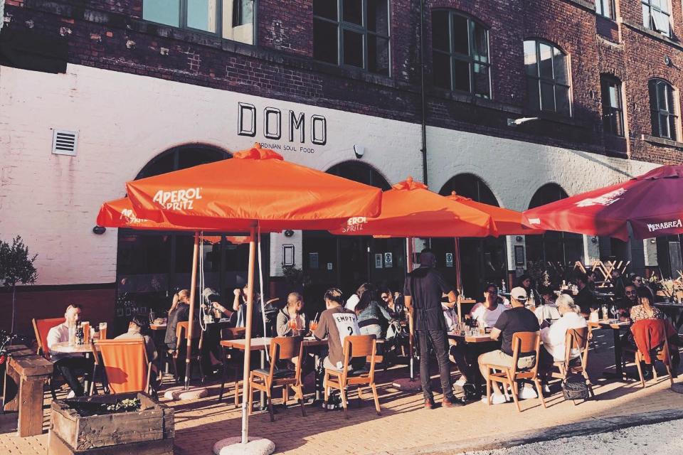 Domo restaurant Sheffield outdoors in summer